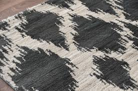 Brown And Gray Area Rug Ikat Diamond Pattern Area Rug Woodwaves