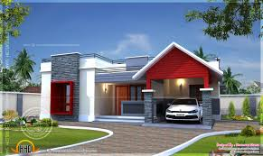 top single floor house plan and elevation 1290 sq ft kerala home
