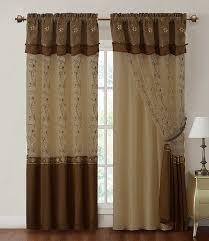 amazon com two piece window curtain drapery sheer panel w
