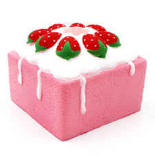 square cake jumbo rising square cake cube squishy charm scented strawberry