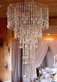 Two Golden Rings Bead Chandelier Wedding Chandeliers Event Lights Shopwildthings