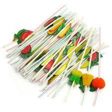 aliexpress com buy 10pcs 3d party straw multicolor fruit plastic