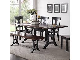 industrial dining room tables crown mark astor industrial dining table with trestle base and