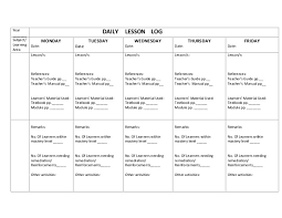 daily lesson plan template daily template 1 daily template 1