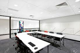 Modern Conference Room Tables by Modern Conference Room With Round White Table And Chairs Next