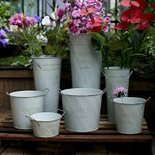 aliexpress com buy iron barrel garden flower pots planters
