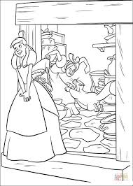 cinderella standing front house coloring free