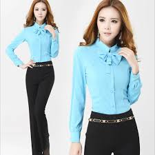 bow tie blouse plus size 2015 formal plus size shirts sleeve bow tie