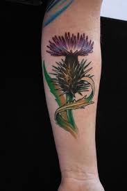 Scottish Tattoos Ideas Scottish Thistle Tattoo On Arm Best Tattoo Ideas Gallery