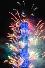 happy new year taipei 101 welcomes 2018 with magnificent fireworks