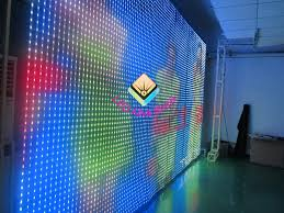 Curtain Led Display P31 Soft Led Screen With Led Strip Tube Is The Customized Led Display