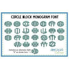 monogrammed fonts applique corner fonts monogram designs