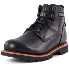 classic motorcycle boots caterpillar rockwell classic boot mens black leather casual boots