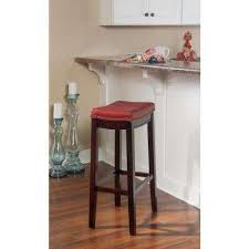 home decorators collection madelyn 41 in natural nailhead trim full back square seat bar stools kitchen