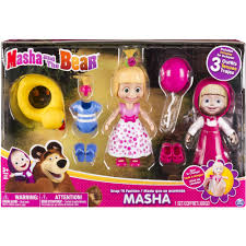 masha bear snap u0027n fashion masha doll walmart