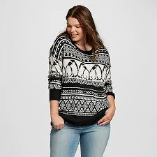 women u0027s plus size holiday sweater black mossimo supply co