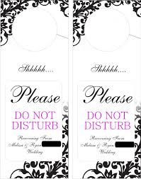 wedding door hanger template door hangers do not disturb weddingbee photo gallery do not