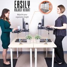 Adjustable Height Standing Desk by The Uptrak Standing Desk Sit Stand Desk For Your Cube Stand