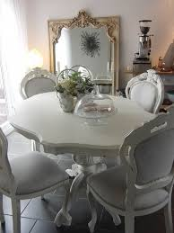 shabby chic french style dining table hand painted in chalk