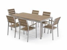 Aluminum Patio Dining Set Aluminum Patio Dining Set Brown Vernio Beliani