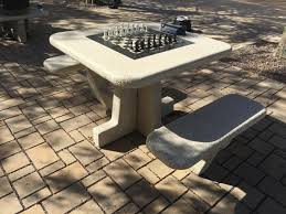 chess table new outdoor chess tables available in forest park st louis