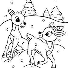 reindeer coloring free download