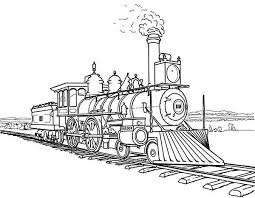 Steam Locomotive Coloring Pages Amazing Steam Train On Railroad Coloring Page Color Luna by Steam Locomotive Coloring Pages