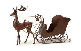 30 25 and brown rustic hammered metal deer with sleigh table