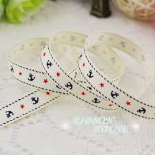 grosgrain ribbon by the yard 5 yards lot 3 8 10mm printed grosgrain ribbon white sea