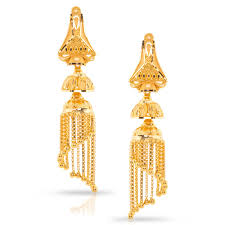 gold jhumka earrings lavy beaded gold jhumkas jewellery india online caratlane