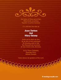 indian wedding invitation wordings christian wedding invitation wording sles wordings and messages