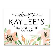 baby shower sign floral watercolor baby shower welcome sign digibuddha