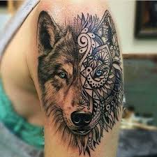 beautiful wolf ink wolf and piercing