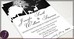 what to put on a wedding invitation rustic deer wedding invitations