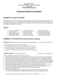 Oracle Sql Resume Business System Analyst Resume Free Business Resume Template