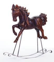 southern living nostalgic noel collection vintage rocking horse