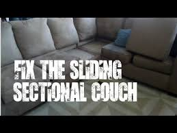 Sectional Sofa Connectors by Diy Fix The Sliding Sectional Couch Sofa Youtube