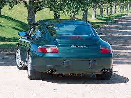 porsche 911 green 2001 porsche 911 carrera 4 coupe green rear angle 1024x768