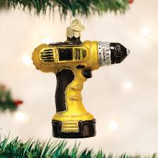 power drill old world christmas ornament