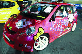 kitty pink car images reverse