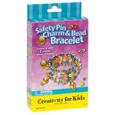 amazon com creativity for kids safety pin charm and bead bracelet