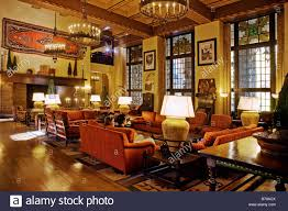 the grand sitting room of the ahwahnee hotel built in 1925