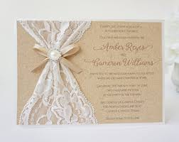 burlap and lace wedding invitations abigail burlap lace wedding invitation vintage rustic