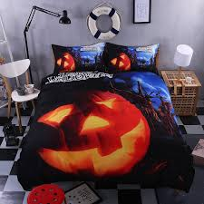 bedroom interesting pumpkin party comforters black halloween
