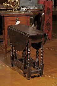 Drop Leaf Oak Table 19th Century English Small Oak Gate Leg Drop Leaf Table With