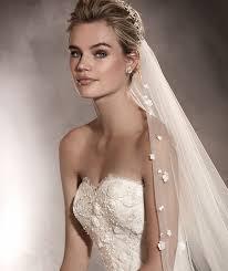 robe de mariã e pronovias arizona vestido de noiva em tule e renda corte reto pronovias