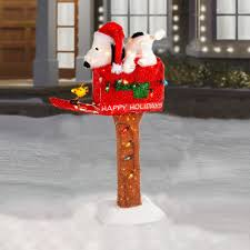 45 u201d animated pre lit snoopy on mailbox christmas tree shops andthat