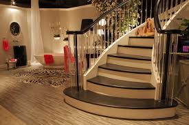 stair exquisite modern living room decoration using clear glass
