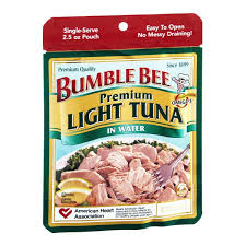 bumble bee chunk light tuna bee tuna chunk light in water pouch