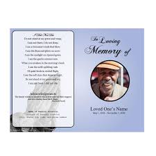 memorial service programs prayer single fold memorial program funeral phlets